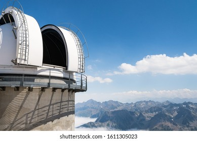 Pic du midi, Pyrénées, France - 11/07/2015 : Observatory of the Pic du Midi at the summit of the Pic du Midi de Bigorre at the French Pyrénées.