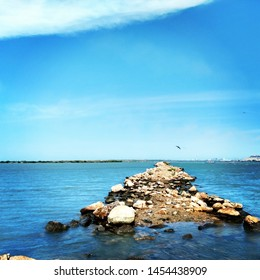 pic was taken at TUTICORIN BEACH (tamilnadu state, India) on of the oldest harbour in india