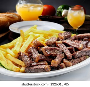 picanha and French fries