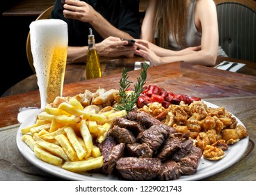 Picanha with fries and beer