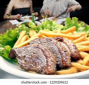 Picanha, fries, salad and catupiry