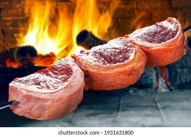 Picanha, traditional Brazilian barbecue food