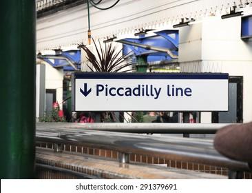 PICCADILLY LINE UNDERGROUND SIGNBOARD