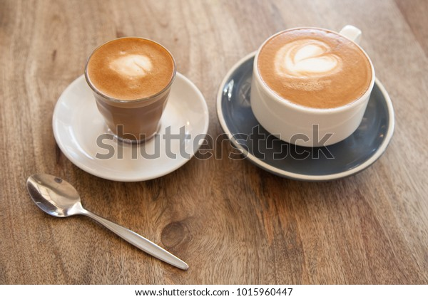 Piccolo Latte Coffee Small Glass Cup Stock Photo Edit Now 1015960447