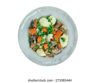 Pichelsteiner   -  German stew that contains several kinds of meat and vegetables.