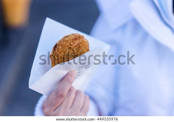 Pick Korokke or Fried sweet potato