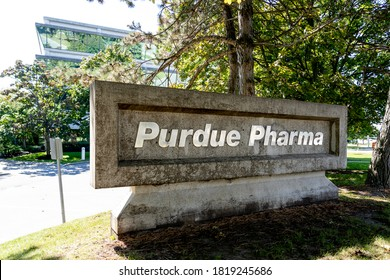 Pickering, On, Canada - September 20, 2020: Purdue Pharma (Canada) Corporate office is shown in Pickering, Ontario, Canada on September 20, 2020.