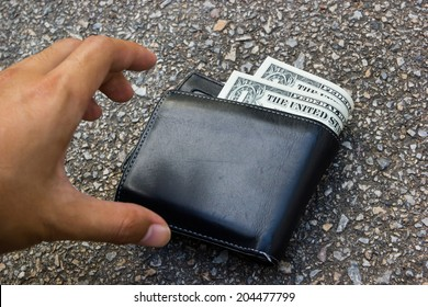 picking up a lost wallet