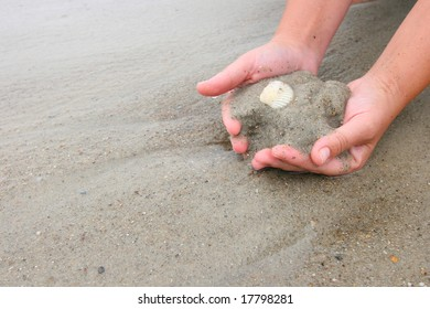 Picking up some sand