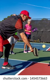 PIckleball instructor teaches the dink shot