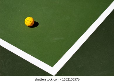 Pickleball and pickle ball court
