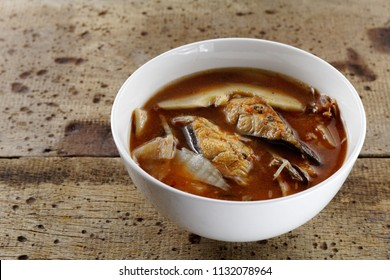 Pickled bamboo shoots with catfish in sour and spicy soup , Thai food