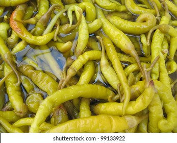 Pickled Chili Peppers in Vinegar