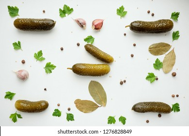Pickled Cucumber Pattern, top view