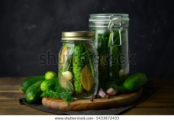 Pickled cucumbers homemade productions making of