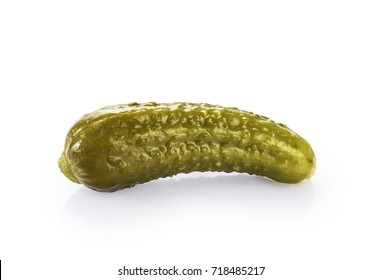 Pickled cucumbers isolated on white background.