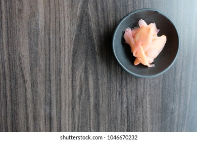 Pickled ginger side dish for sushi and sashimi