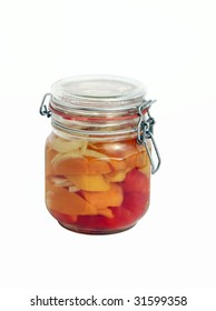 pickled paprika in jar