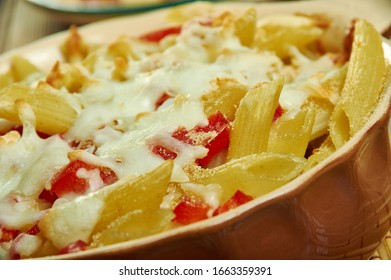 Pickled Pepper Macaroni and Cheese, baking dish with butter