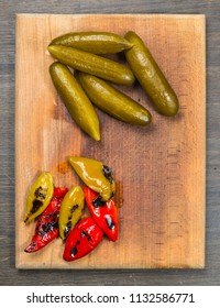 pickled and roasted pepper