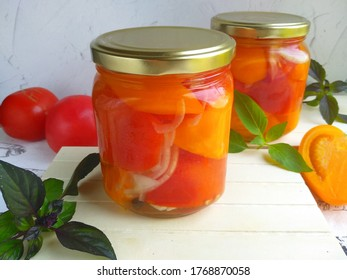 Pickled tomatoes - a great preparation for summer memories