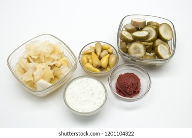 pickles, hot peppers, Pickles of pepper, yoghurt, cabbage, Pickles of cabbage