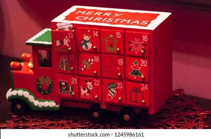 Pickup truck advent calendar