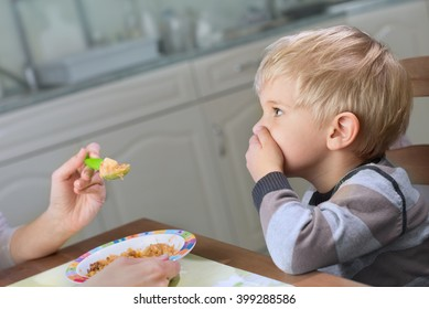 Picky Eater Denying to Eat Saying No to Food