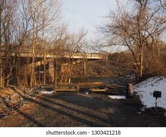 Picnic area at Keep Loudoun Beautiful Park, Leesburg, Loudoun County, northern Virginia