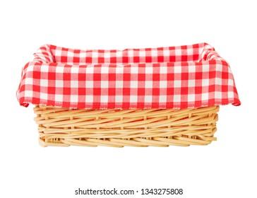 Picnic basket isolated on white background