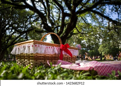 Picnic Basket and Public Park