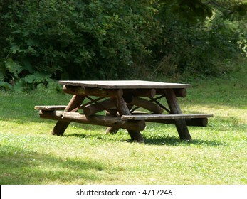 picnic  bench in park