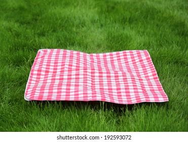 Picnic  Retro Tablecloth on Green Grass