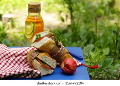 picnic - sandwiches and lemonade, food and drink