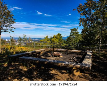 A picnic spot in the autumn forest in the Basel Land region