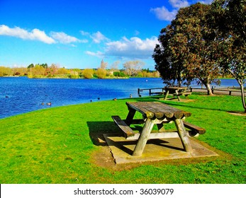A picnic spot by Henley Lake,Masterton, New Zealand