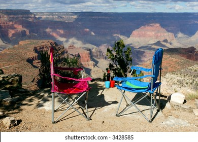 Picnic at Sunset vista of Grand Canyon National Park, Arizona, USA