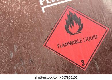pictogram for chemical hazard: flammable liquids