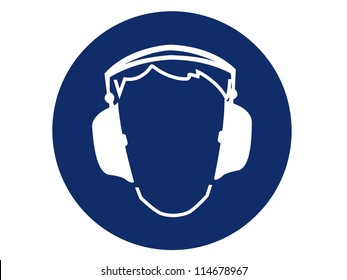 pictogram of ear protection