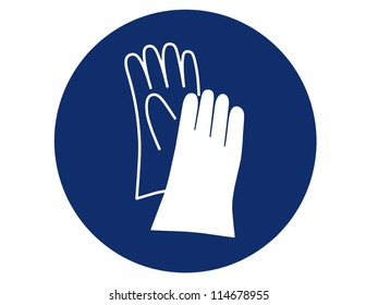 pictogram of hand protection