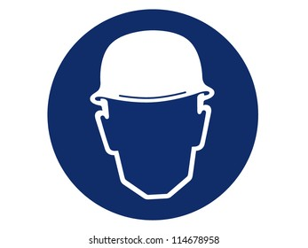 pictogram of head protection