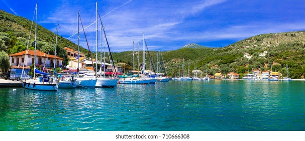 Pictorial fishing village Sivota in Lefkada, Ionian island