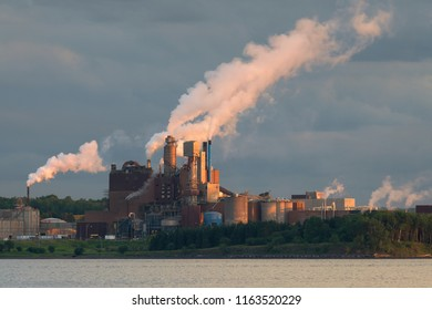 PICTOU, NOVA SCOTIA/CANADA - JULY 19, 2018: Trenton Generating Station on Power Plant Road in Trenton