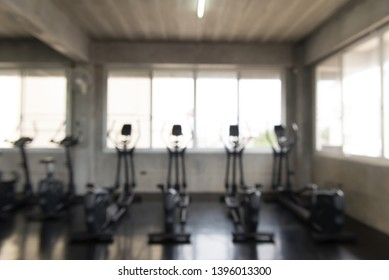 Picture of abstract gym center blured background,Indoor sport club