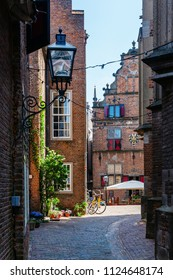 picture of an alley in the historical old town of Nijmegen, Netherlands