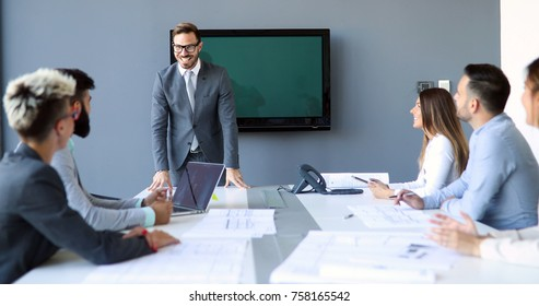 Picture of architects having meeting in office