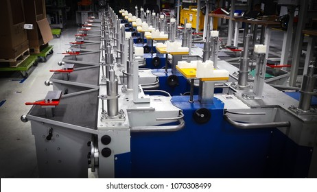 The picture of the assembly table after work day in the industrial in thailand