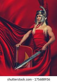 Picture of Athena.The goddess of wisdom, especially strategic warfare.