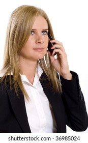 picture of an attractive businesswoman on the phone