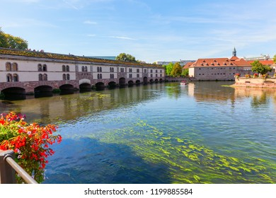 picture of the Barrage Vauban at the river Ill in Strasbourg, France